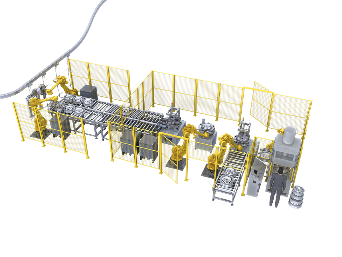 Auto automation production line