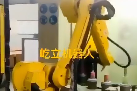 Automated loading  unloading of drawing  sandblasting of the steering shaft of Mercedes-Benz cars