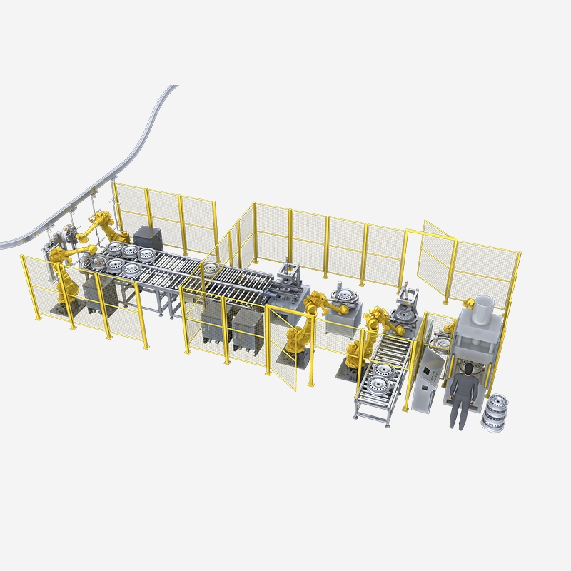 Automobile hub welding production line